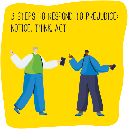 3 steps to respond to prejudice: notice, think, act
